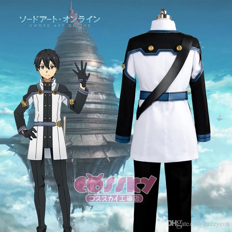 도예 온라인 영화 영화 주문 서기 OS Kirito Kirigaya Kazuto Cosplay Costume Uniform