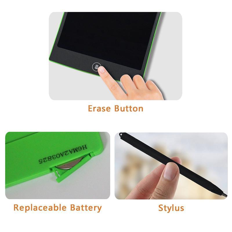 8.5 pulgadas LCD Escritura de la tableta Tableta táctil Oficina Tablero electrónico Mensaje de nevera magnética con Ultra brillante Estilete mejorado Regalos de Navidad para niños