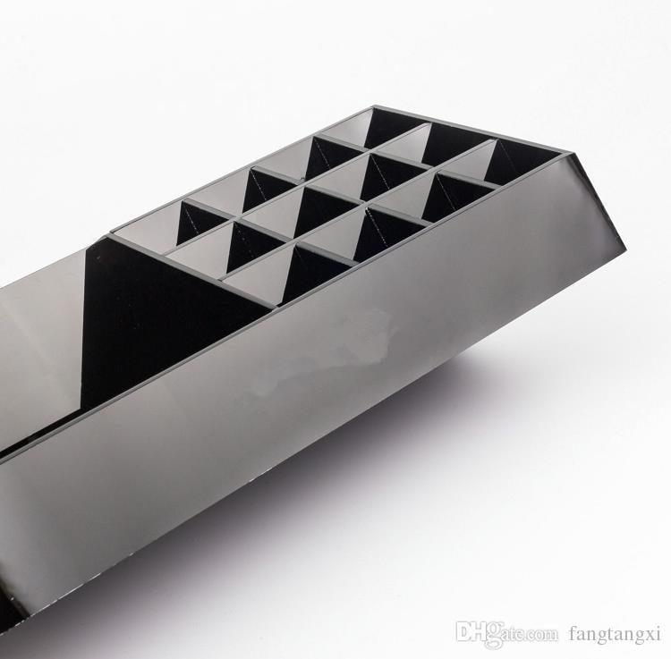 Classic Acrílico Black Batom Multifuncional Display Stand Cosmetics Organizer Acessórios Caixas de Armazenamento Caixas de Presentes