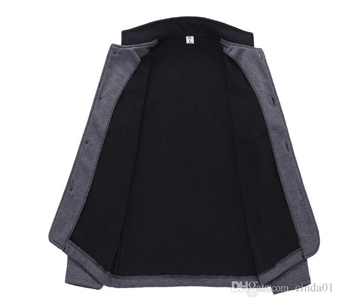 Мужская стенд воротник куртки 2017 Новые поступления мода с длинным рукавом Slim Fit твердые весна и осень повседневная мужской свитер пальто