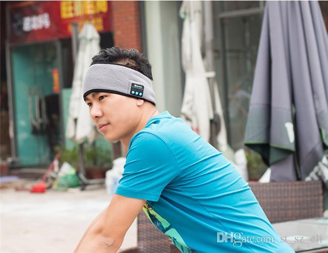 Bluetooth Music Headband Stereo Trådlöst Headset Mens / Kvinnor Sport Running Fitness Yoga Running Stretch Head Wrap Caps Perfect Gifts