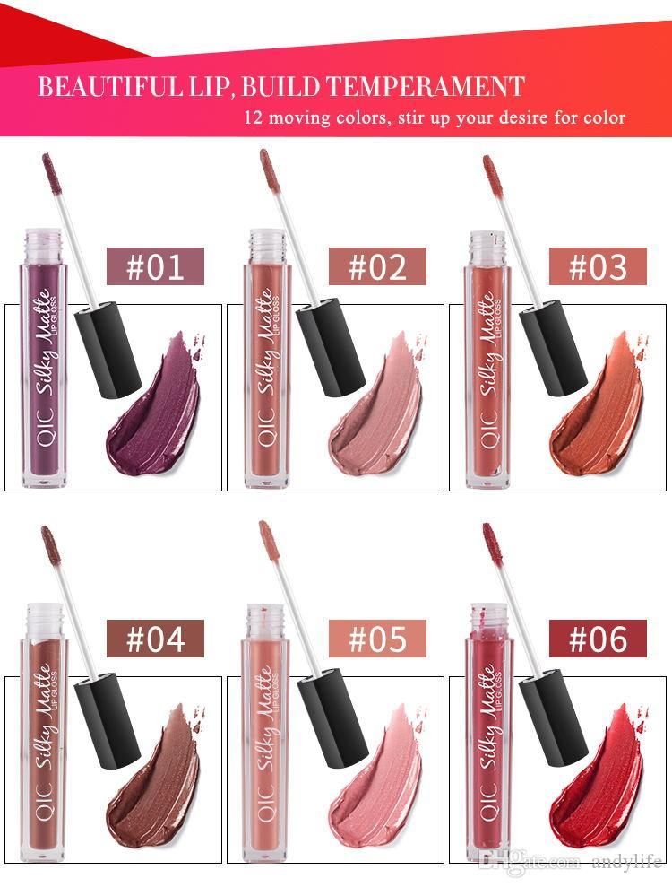 QIC Waterproof Long Lasting Liquid Lipstick matter Lip Gloss Makeup Beauty Matte Lip Tint for pick