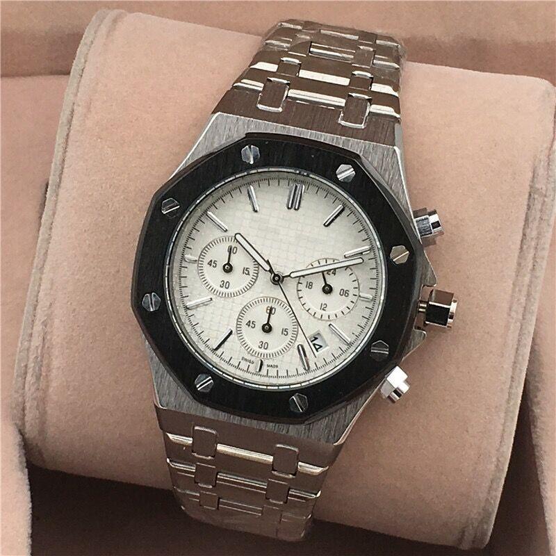 Tous les compteurs de travail AAA Mens ou Womenes Montres Acier Quartz Montres Chronomètre De Luxe Montre Top marque relogies pour hommes relojes Meilleur cadeau