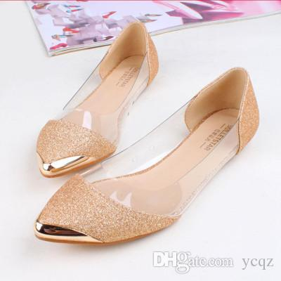 02fa3b6cdfd9 Summer Women Flats Shoes New 2016 Shoes Woman Brand Fashion Casual Sapatos  Femininos Ballet Ballerina Ballet Flat Sandals Silver Shoes Casual Shoes  From ...