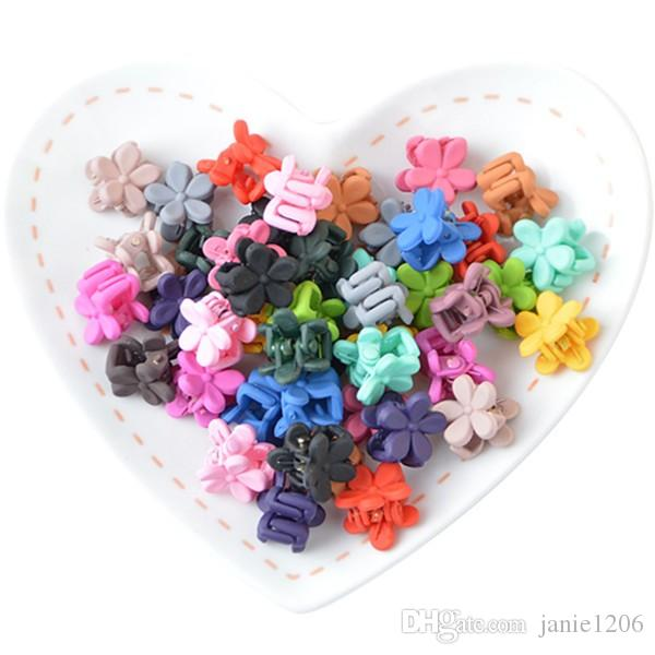 Candy Color Mini Small Hair Claw Girls' Hair Clips Kids Flower Hair Accessories