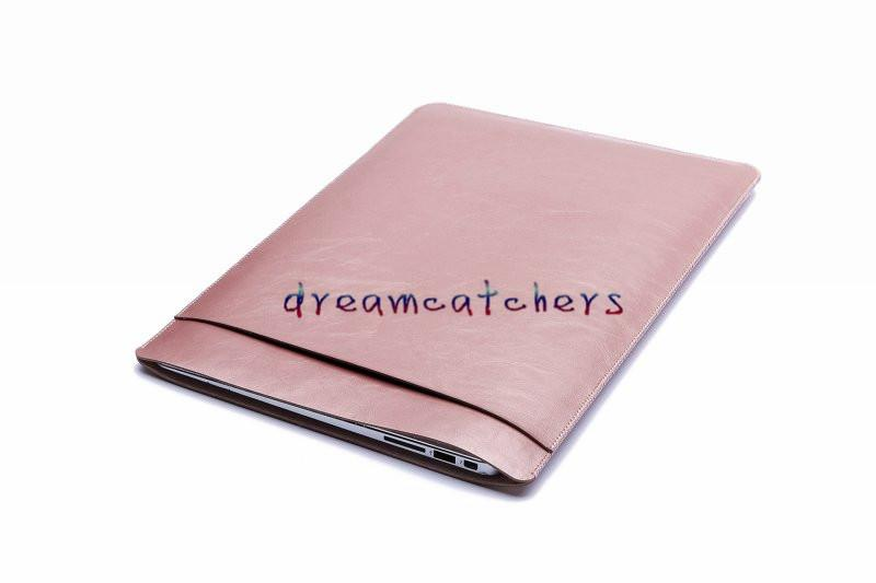 """Retina Waterproof Leather Double-deck Pouch Macbook Laptop Bag Sleeve Case Cover for Apple MacBook air 11"""" 12"""" 13"""" for Macbook pro 13"""" 15"""""""