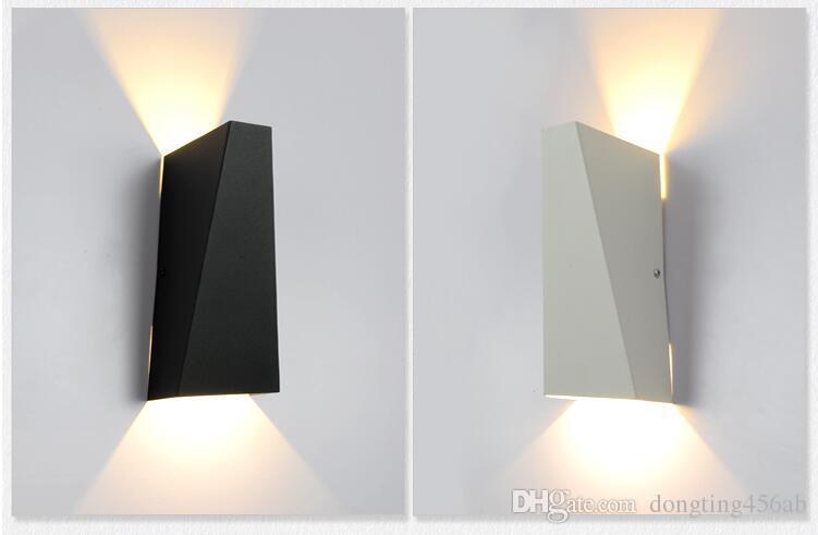 10W LED Modern Light Up Down Wandleuchte Square Spot Light Wandleuchte Beleuchtung Home Indoor Wandleuchten Outdoor Wasserdichte Wandleuchten Schwarz / Weiß