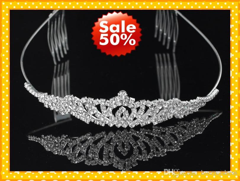 Fashion Headband Hair Clips Crystala Jewelry Bridal Wedding Brides Romantic Cheap Rhinestone Wear Beautiful Good Sell Accessories