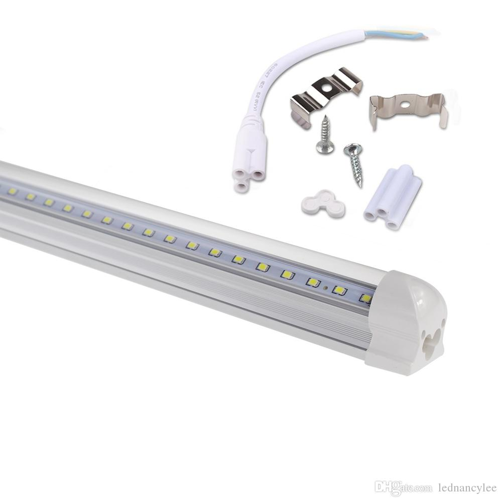 T8 Integrated 8ft V Shaped Led Tube 4 Feet 5ft 6ft 8feet Fluorescent To Light Wiring Diagram Cooler Door Double Sides Bulbs Circuit