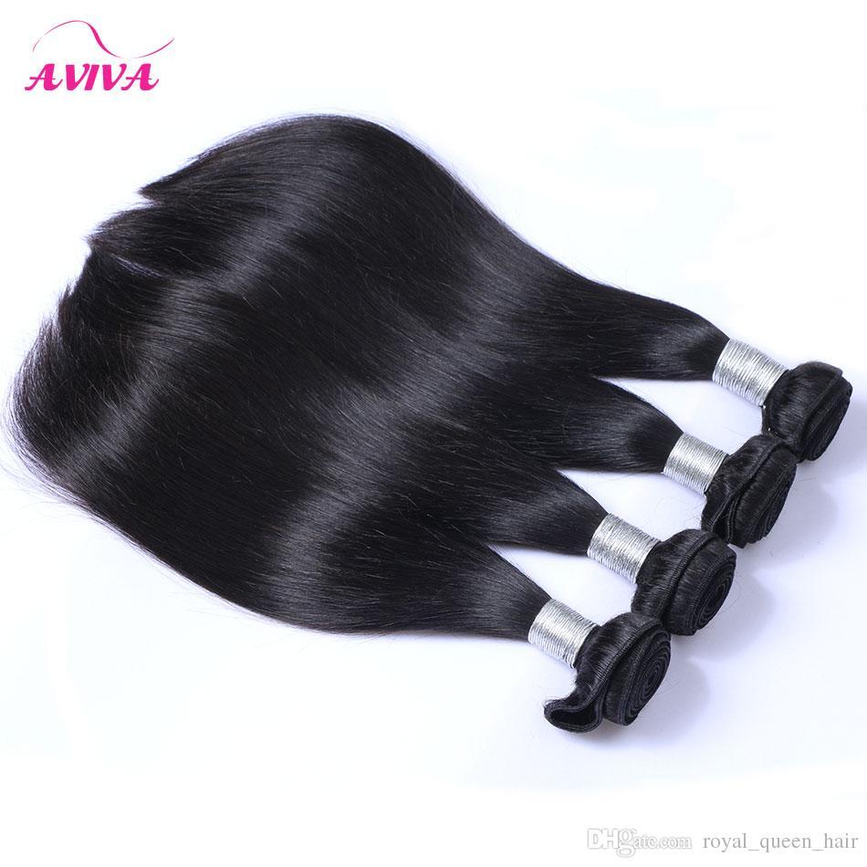 البرازيلي عذراء الشعر مستقيم 4 قطعة / الوحدة غير المجهزة البرازيلي الإنسان الشعر نسج حزم الطبيعي الأسود رخيصة ريمي الشعر يمكن مصبوغ