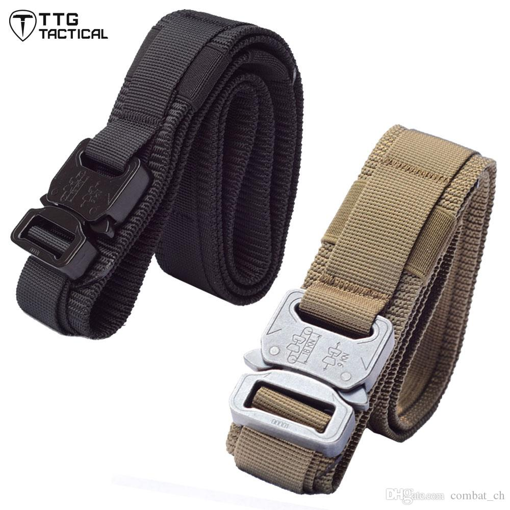 Compre Cinturón Táctico Para Hombre Cinturón Táctico Molle Cobra Para  Airsoft Paintball Rigger Strap MOLLE Cinturón Táctico Para Cinturón A   14.08 Del ... 226b0fe8eb94