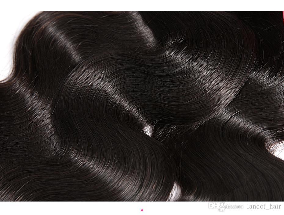 최고의 10A 브라질 바디 웨이브 버진 헤어 3/4 번들 처리되지 않은 페루 인디언 말레이시아 인체 머리카락 직물 색상 자연 염색 표백 염색 가능