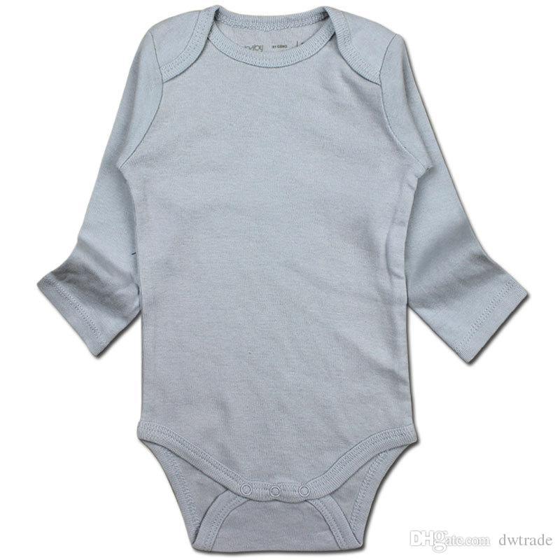 베이비 보이스 소녀 Rompers 바디 슈트 신생아 긴 소매 Romper Onesies 100 % Cotton Clothing Triangle for DHL