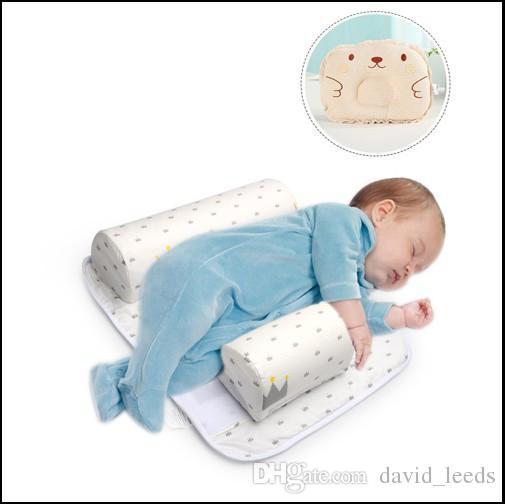 2017 nuovi arrivi bambino neonato posizionatore di sonno neonato anti roll cuscino con lenzuolo + cuscino set 2 pezzi 0-6 mesi neonati