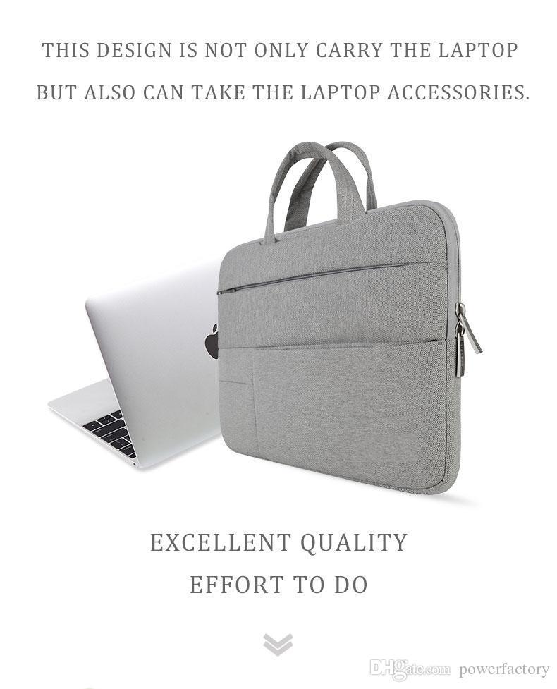 Laptop Çantaları Kol Notebook çantası Dell Asus Asus Acer Lenovo Samsung için Macbook 11 12 13 14 15 15.6 inç Retina Pro 13.3