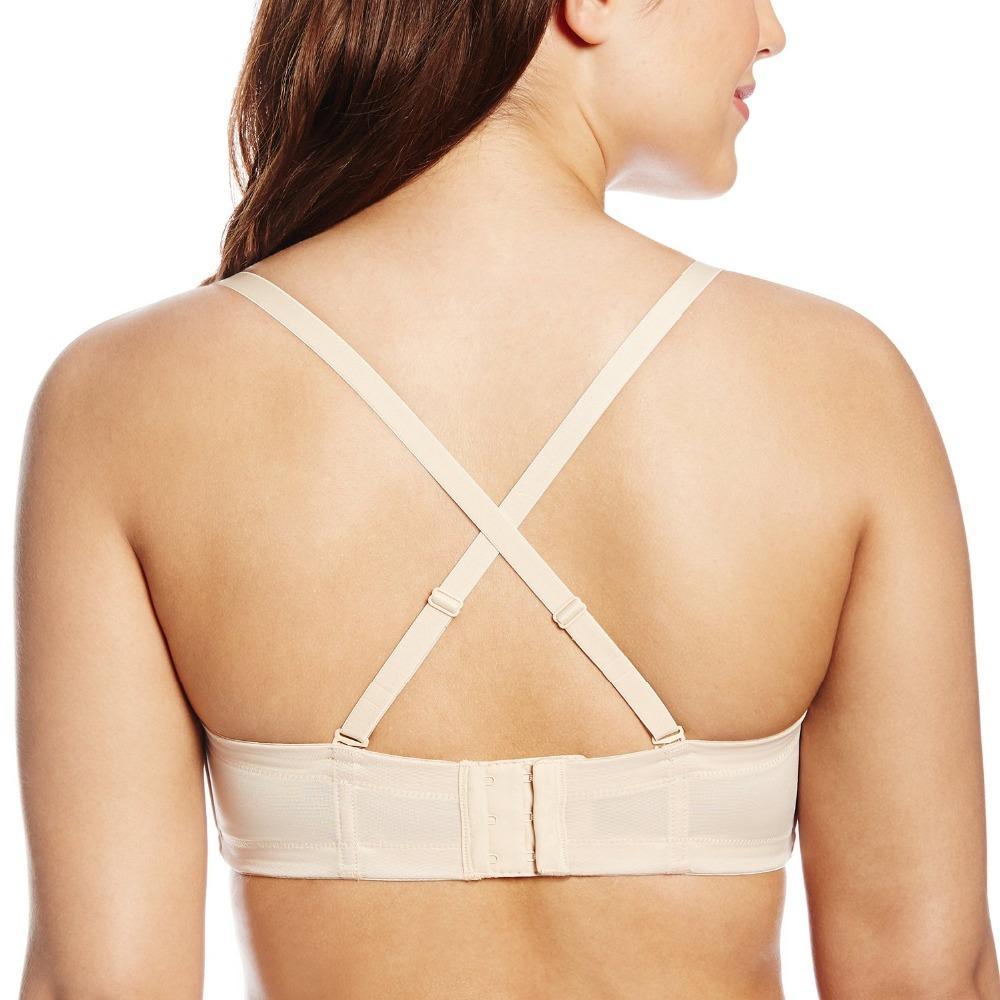 2016 Women Bra The Stomacher Type Bra Push Up Cup Khaki Can Hanging Neck For Wedding Dress 1/2 Cup non-Slip Underwear