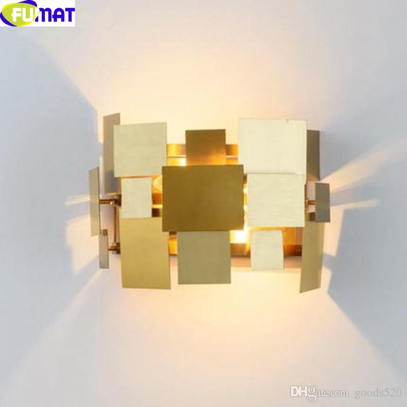 2018 Fumat Gold Stainless Steel Table Lamps Modern Art Designer Table Lamp  Square Piece Deformable Wall Light Bedroom Bedside Light From Goods520, ...