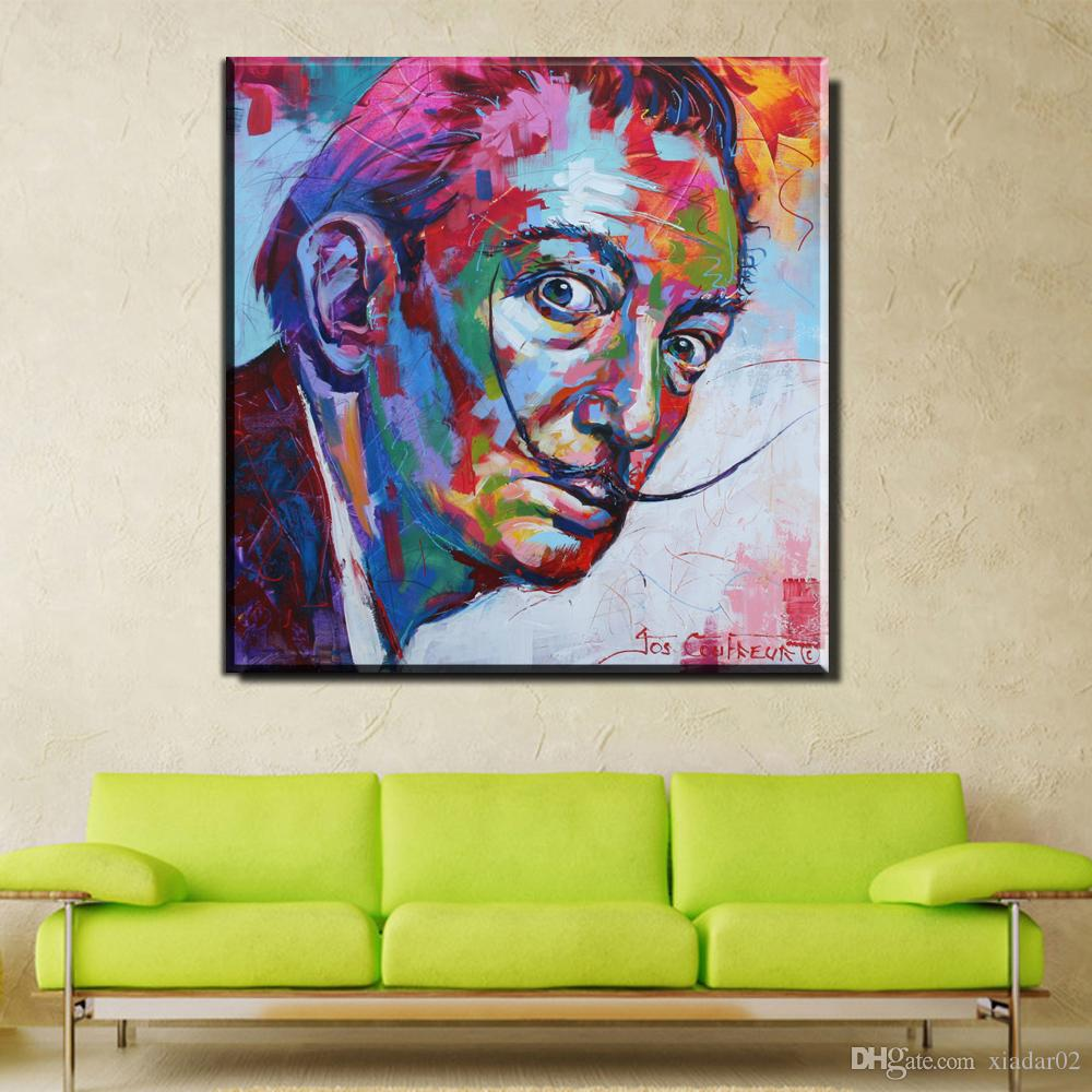 ZZ668 watercolor canvas posters and prints art salvador dali portrait paintings canvas pictures oil art prints for livingroom
