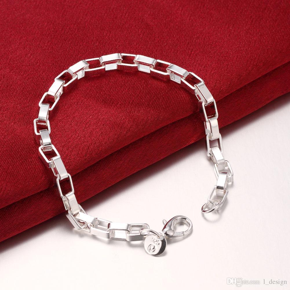 Hot Sale in USA Fashion Chic Simple Box Chain Bracelet Elegant women Jewelry Best Friend Gift