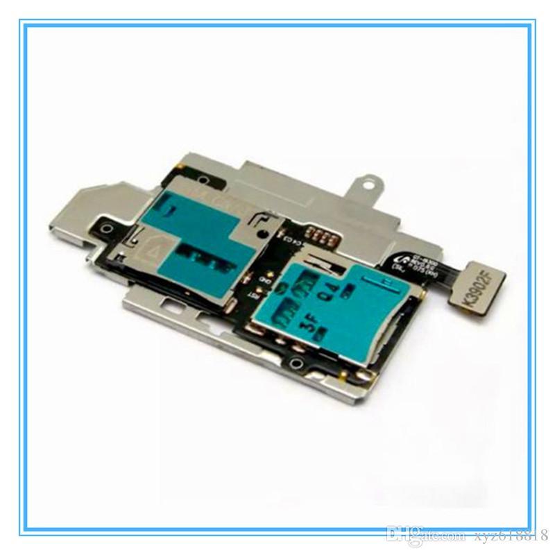 DHL 무료 배송 / 새로운 원본 SIM 카드 홀더 마이크로 SD 메모리 소켓 슬롯 트레이 삼성 전자 갤럭시 S3 S III GT-i9300에 대 한 플렉스 케이블