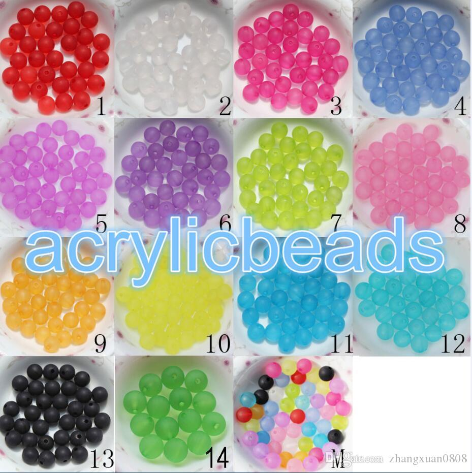 2018 Hottest 6mm Acrylic Clear Matte Frosted Round Beads Spacer Plastic Gumball Bubblegum Balls for Bracelet Jewelry DIY