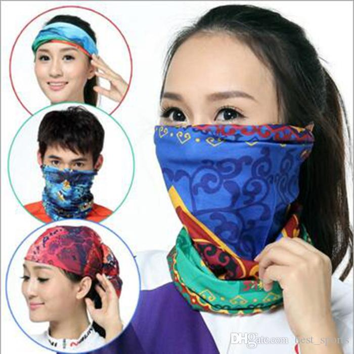 Apparel Accessories Mixed Design Bandana Scarf Summer An-uv Unisex Hood Face Mask Tube Scarves Seamless Turban Headband Bicycle Hijab Kerchief 90 Strong Packing