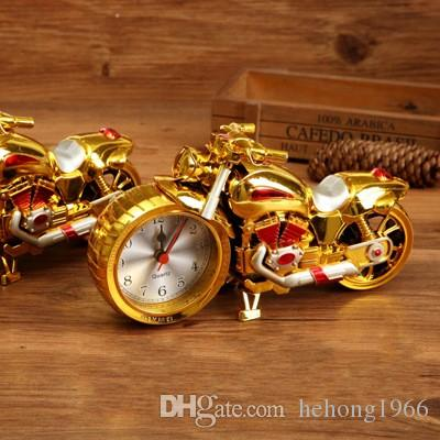 Creative Motorcycle Clock Alarm Clock Fashion Retro Motor Van Model Clocks High Qualioty Exquisite Durable Alarms Factory Direct 5 3gs R