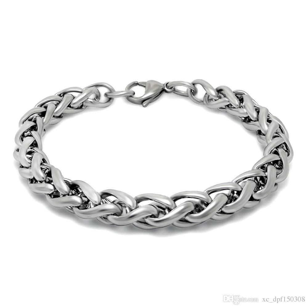 2018 Wholesale Popular Simple Fashion Insider Titanium Steel Nevel Fade Bracelet Suitable for Men and Women to wear Everyday Life