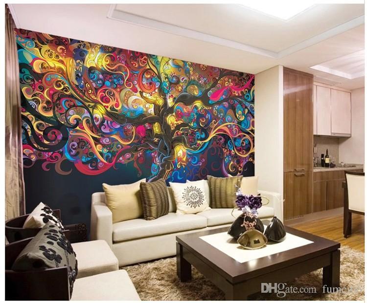 Tree of life Photo wallpaper Psychedelic Wallpaper Custom 3D Wall Mural Art Bedroom Bedroom Bar Shop Room decor Natural scenery