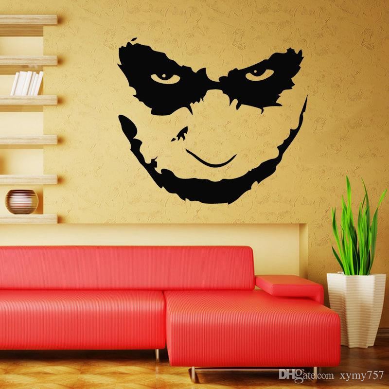 Joker Heath Ledger Wall Decal Art Iconic Vinyl Wall Decals - Wall stickers art