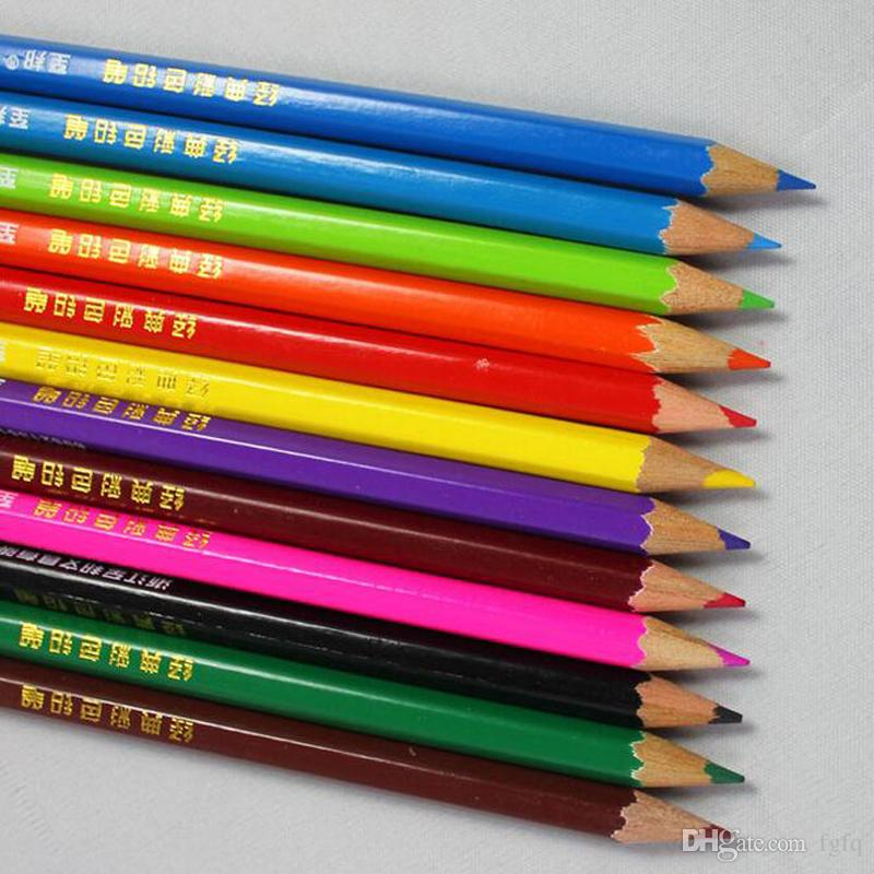 12Pcs 24Pcs Colored Pencils, Wood Rainbow DIY Secret Garde Color Pencil For Drawing Sketch for Kid School Painting Graffiti Drawing