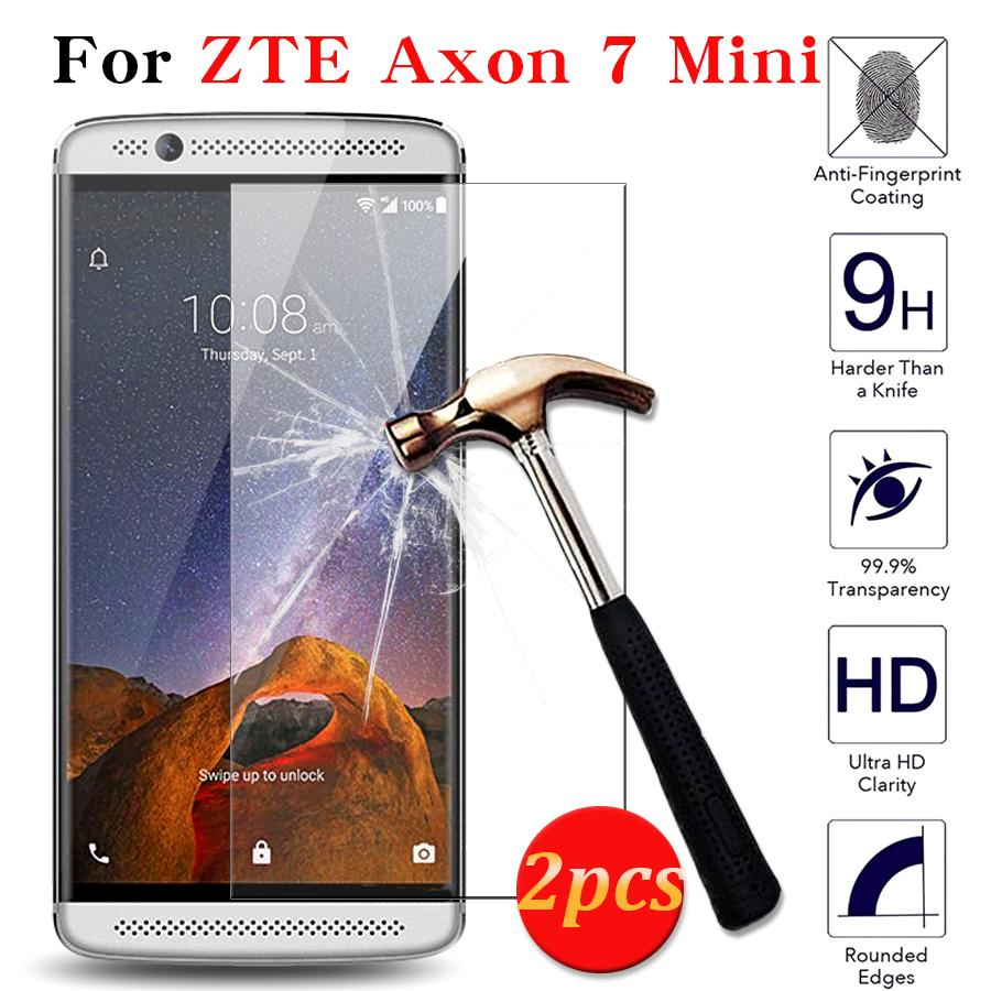 timeless design 771d1 d8efa Wholesale- 2pcs 100% Tempered Glass For ZTE AXON 7 Mini High Quality 9H  2.5D Screen Protector For ZTE AXON 7 glass Mini Film Case Cover