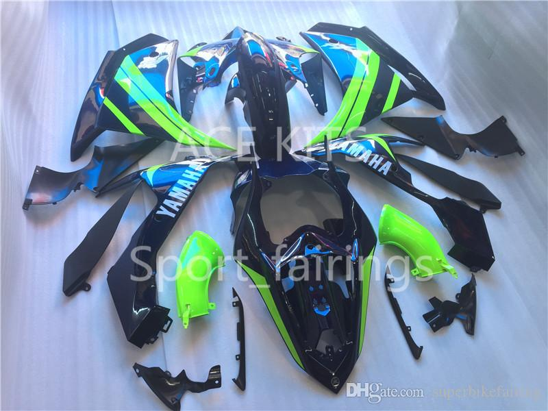3 free gifts Complete Fairings For Yamaha YZF 1000 YZF R1 2007 2008 Injection Plastic Motorcycle Full Fairing Kit Black Green style A3
