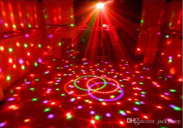 360 Degree Rotating Crystal Ball Stage Lighting 110-240V Voltage LED RGB Rotating Lamp For Party Wedding Family Birthday Party Disco DJ
