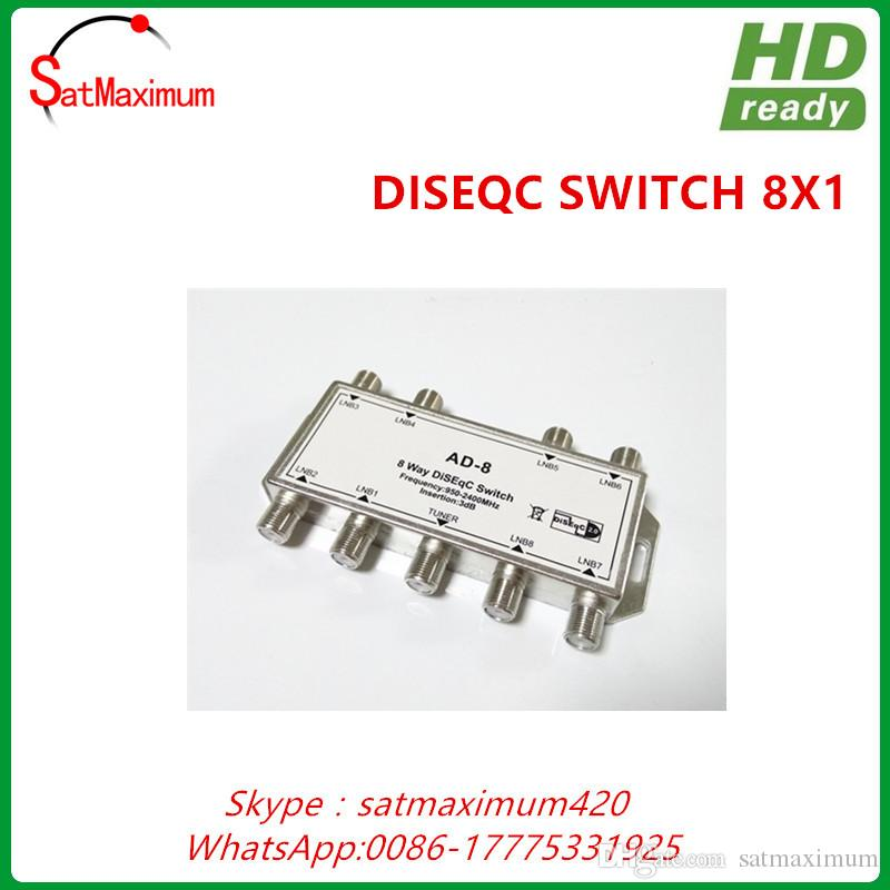 Cheap High Quality 8 X 1 Way DiSEqC Satellite Switch LNBs Into Receiver Video To Vga Converter Hdmi Auf Adapter From Satmaximum 1005