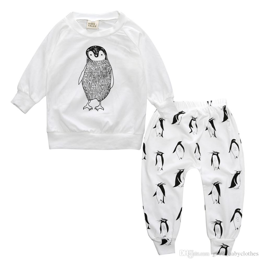 Baby Boys girls clothes Casual Clothing Sets Cotton Long Sleeve T-shirt+Pants Infant Clothes Suit