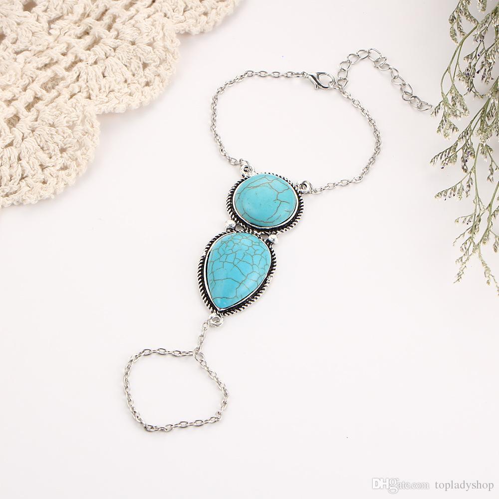 Bohemian Wind Beach Bracelet Turquoise National rétro en gros Livraison gratuite