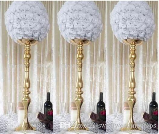 Yapay çiçek aranjmanı standı düğün masa centerpieces zihinsel çiçek