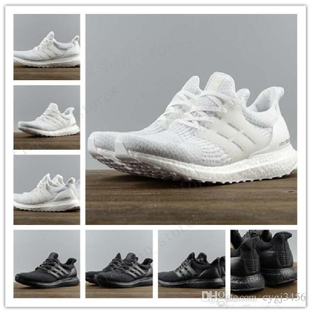 1f63ca29d3412 2017 New All White Ultra Boosts 3.0 Sneakers Men Footwear Triple White  Women Running Shoes Sports Shoes Ultuaboost 3.0 Collection Geox Shoes Cheap  Shoes For ...
