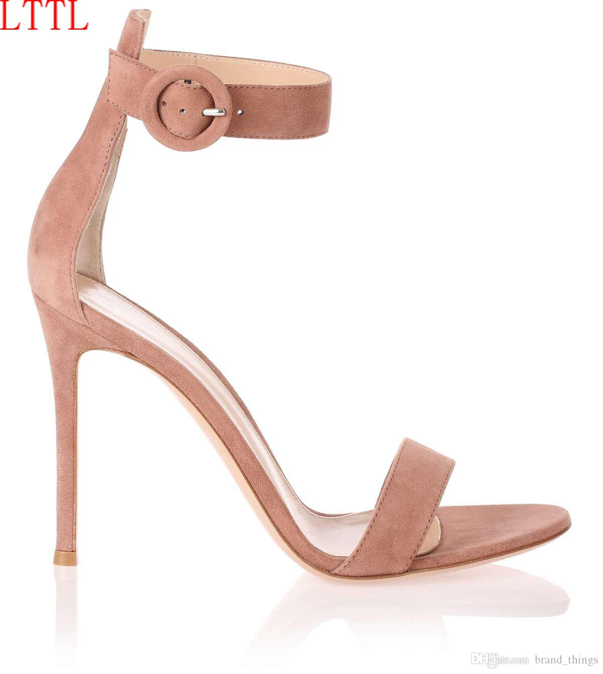 2017 Brand New Fashion Nude High Heels Summer Gladiator Sandals ...