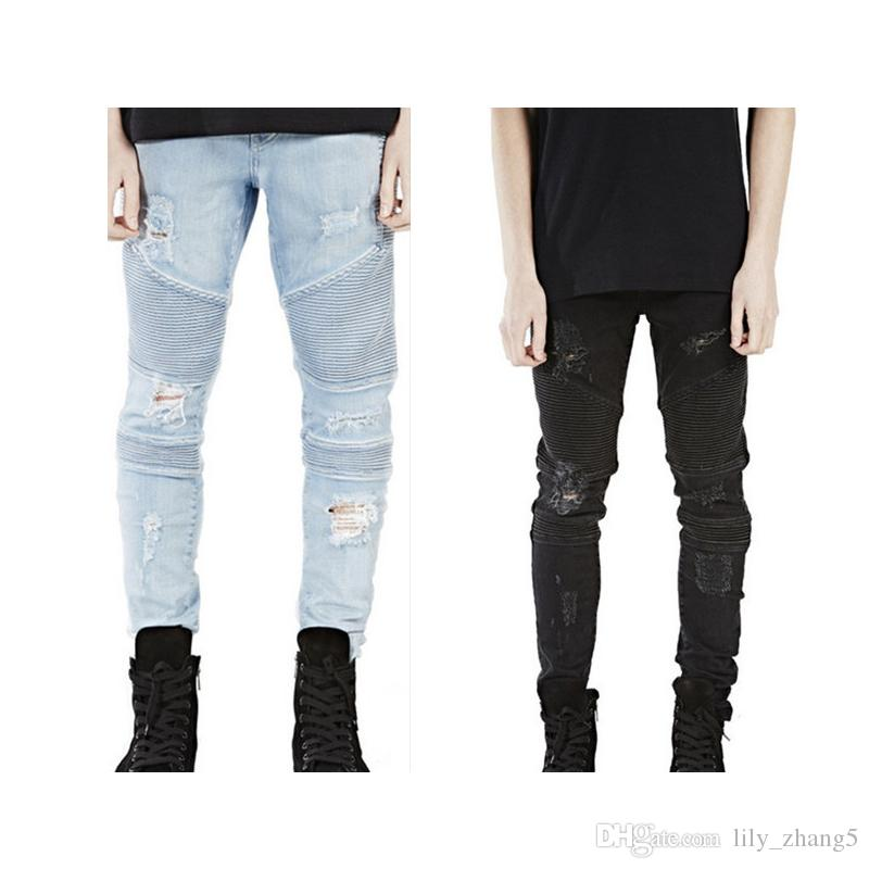 6a18db3a 2019 Wholesale Represent Clothing Designer Pants Slp Blue/Black Destroyed  Mens Slim Denim Straight Biker Skinny Jeans Men Ripped Jeans 28 38 From ...