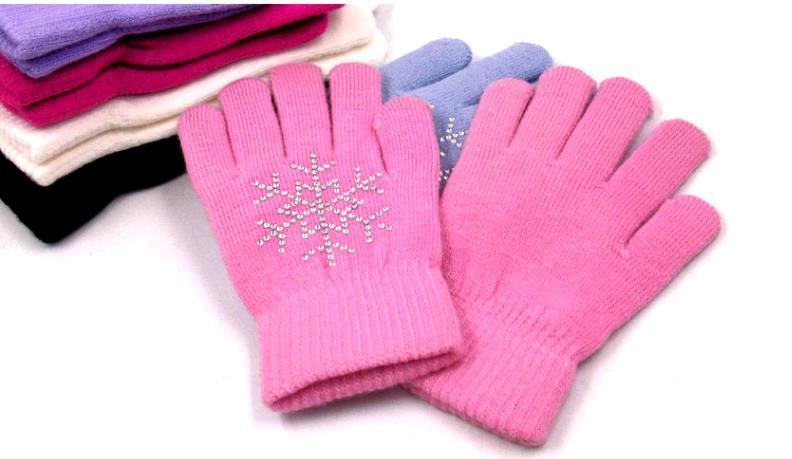 Оптовая горячие продажи фигурного катания перчатки дети фигурного катания коньки с коньки более теплый горячий бурения вязание волшебные перчатки