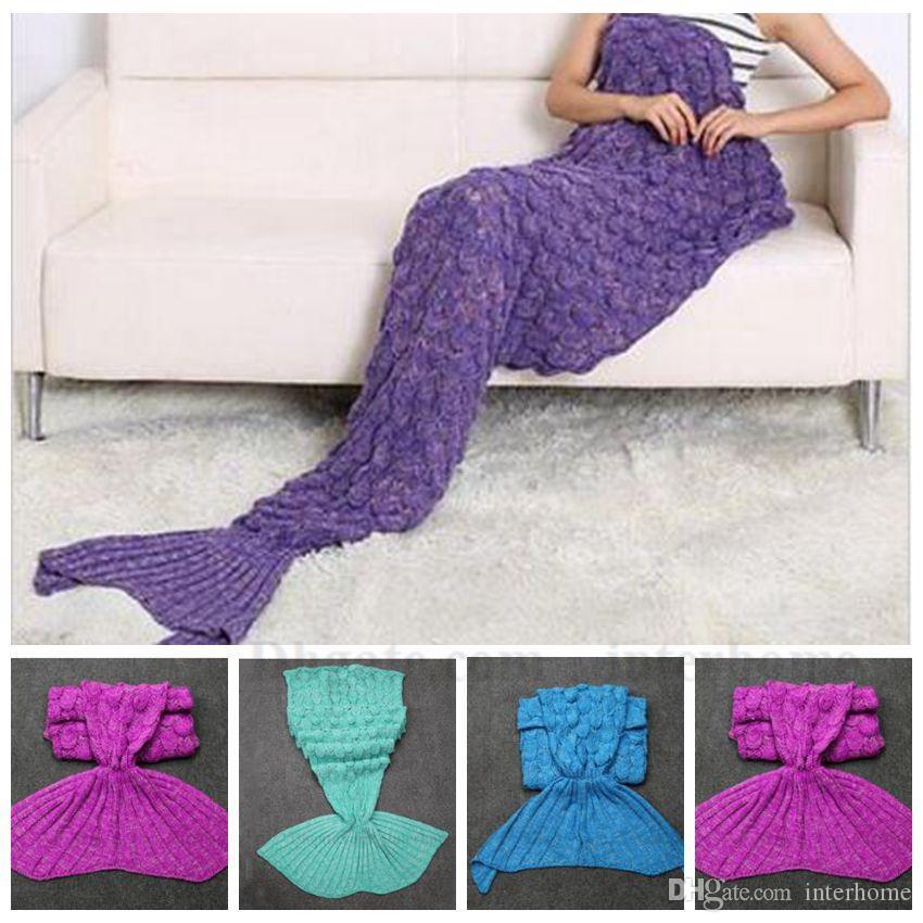 Mermaid Fish Blanket Mermaid Tail Blankets Hand Crochet Mermaid