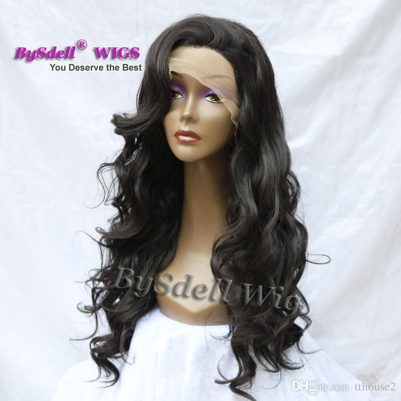 Hot Chic Couture Custom Celebrity Body Wave Hairstyle Wig Top Quality Synthetic Lace Front Wig for Black White Bella Woman