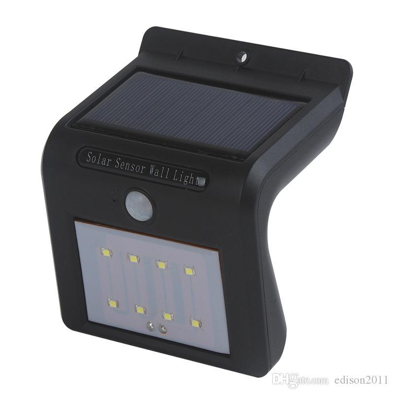 Edison2011 2017 New Arrival 8 LED Światła Słoneczne Oświetlenie Ochrony Outdoor Security Lampy Słoneczne Czujnik Motion Light Control Light