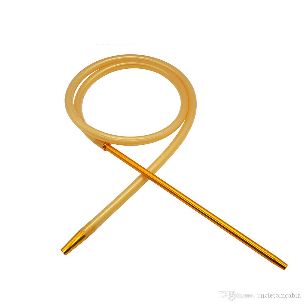 Handle 150 centímetros Silicone Hookah tubulação de Shisha Mangueira redonda 370mm Aluminum Hookah Para Silicone cachimbo Acessório