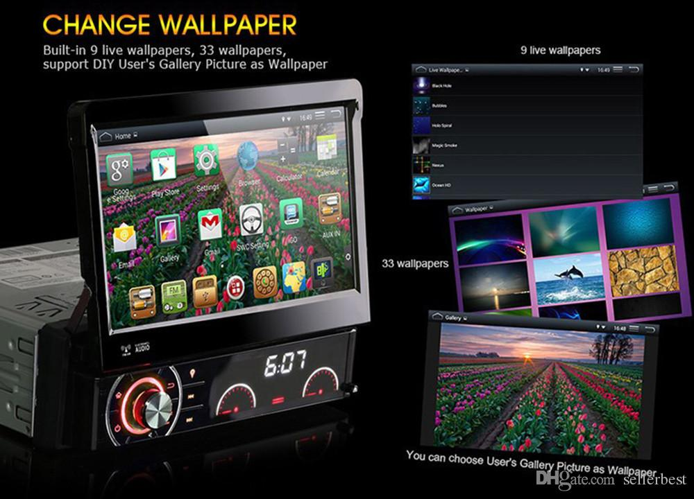 7 Inch Car DVD Player MP5Radio Player Android 4.4.4 GPS WiFi Bluetooth Touch Screen Free Maps Del Coche 1 Din AM/FM V2.1 Stereo