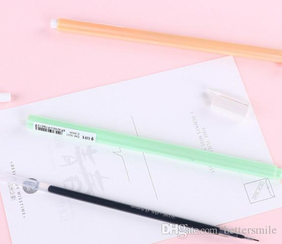 Venta al por mayor de la pluma del gel envío libre \ lotSimple pluma neutral de color caramelo con gran volumen de pluma Negro 0.5mm112