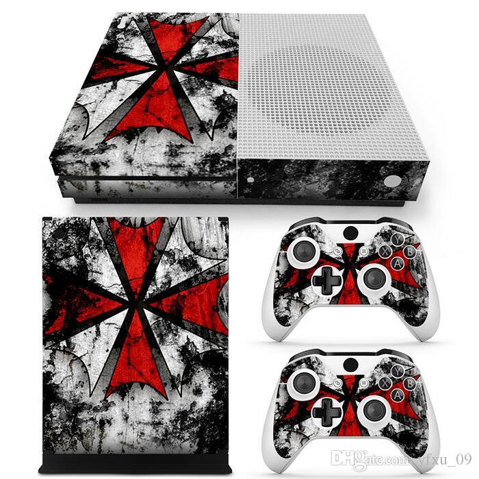 Umbrella Style Full Set Skin Sticker Protective Vinyl Decals For Microsoft xbox one S Console and 2 Controllers Cover Skin Stickers