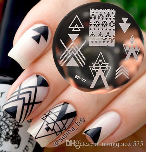 Negative Space Nail Art Stamping Stamp Template Image Plates Cool Triangle  Nail Stamp Plate Nails Stickers Designs Fingernail Stickers Decals From ... - Negative Space Nail Art Stamping Stamp Template Image Plates Cool